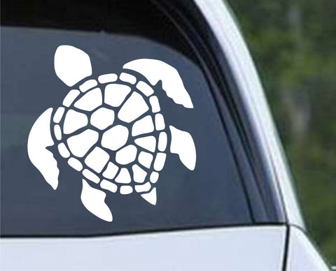 Honu Green Turtle Shell Die Cut Vinyl Decal Sticker
