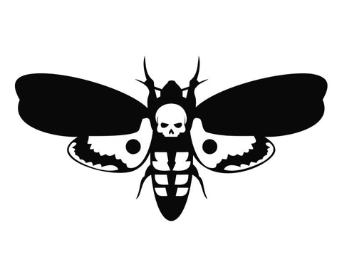 Hannibal Lecter Moth Silence of the Lambs Die Cut Vinyl Decal Sticker - Decals City