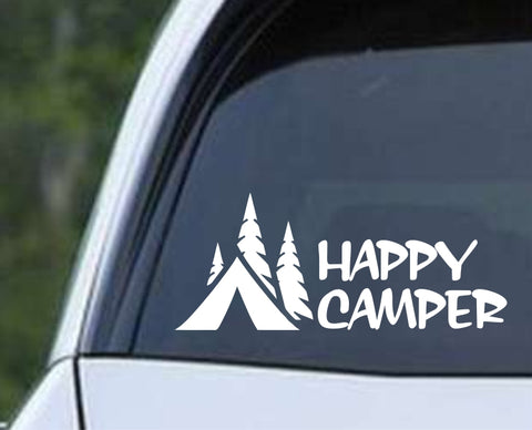 Happy Camper Die Cut Vinyl Decal Sticker - Decals City