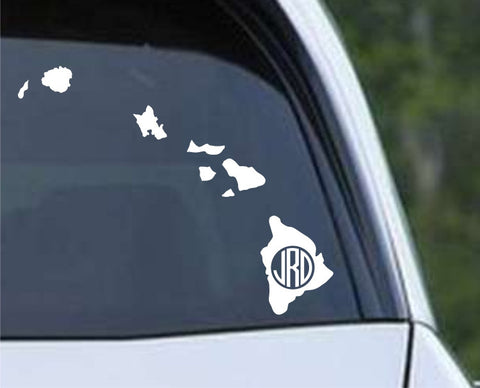 Hawaii Frame Monogram Die Cut Vinyl Decal Sticker - Decals City