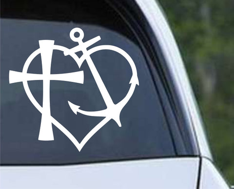 Heart Anchor Cross Die Cut Vinyl Decal Sticker - Decals City