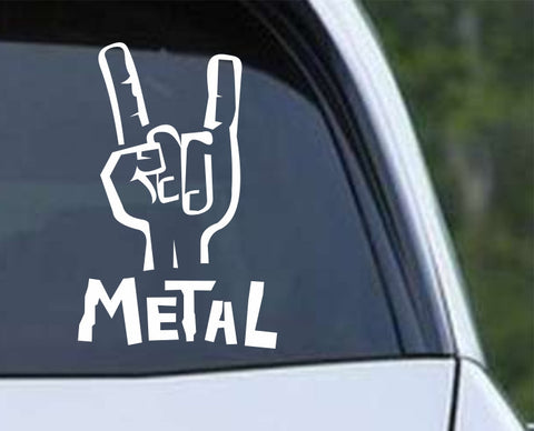 Heavy Metal Hang Loose Rock N Roll (04) Die Cut Vinyl Decal Sticker
