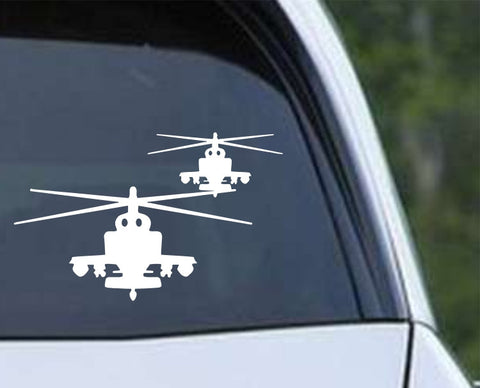 Helicopter-3 Die Cut Vinyl Decal Sticker - Decals City