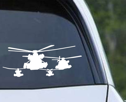 Helicopter-4 Die Cut Vinyl Decal Sticker - Decals City
