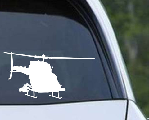 Helicopter-5 Die Cut Vinyl Decal Sticker - Decals City