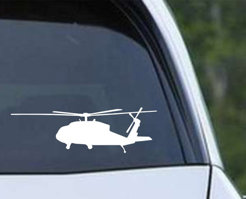 Helicopter-6 Die Cut Vinyl Decal Sticker - Decals City