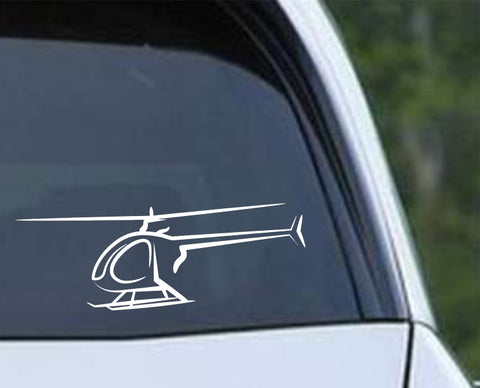 Helicopter Outline Die Cut Vinyl Decal Sticker - Decals City