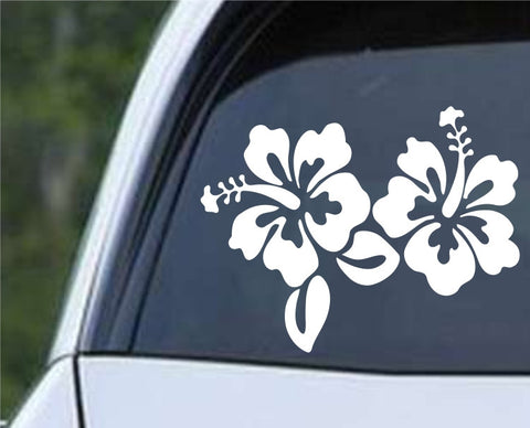 Hibiscus Flower Die Cut Vinyl Decal Sticker