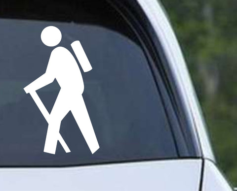 Hiking Icon Symbol Die Cut Vinyl Decal Sticker - Decals City