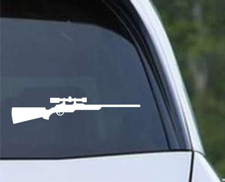 Hunting Rifle With Scope HNT1-18 Die Cut Vinyl Decal Sticker - Decals City