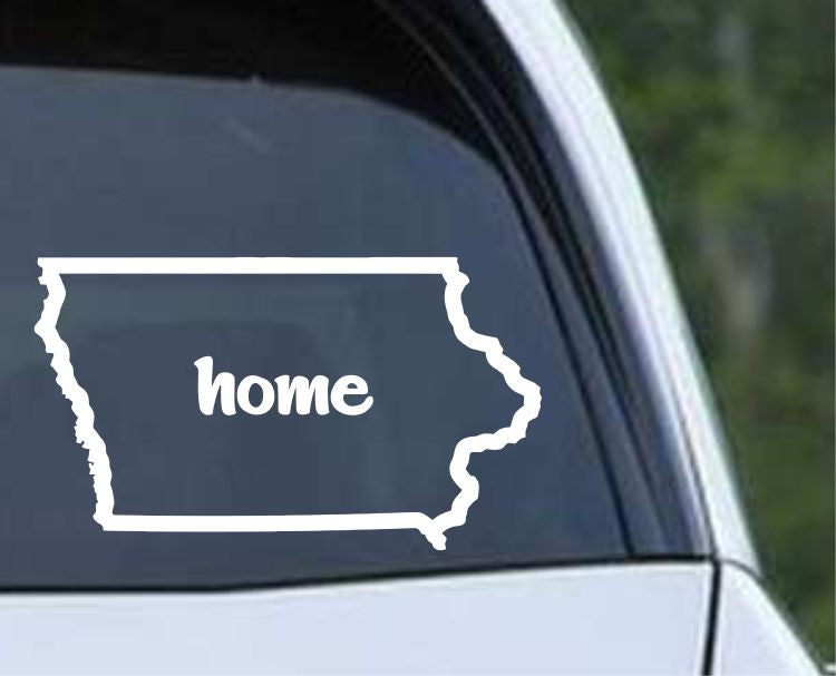 Iowa Home State Outline IA - USA America Die Cut Vinyl Decal Sticker - Decals City