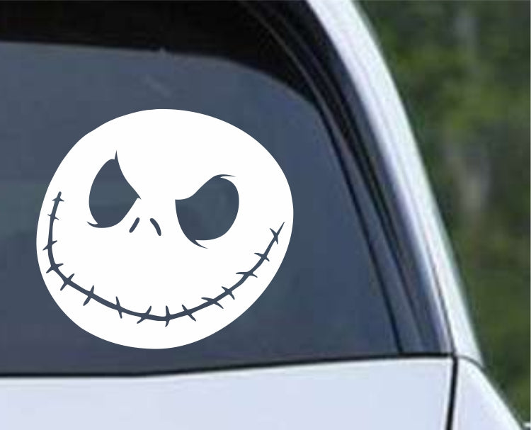 The Nightmare Before Christmas Jack Skellington Face Die Cut Vinyl Decal Sticker - Decals City