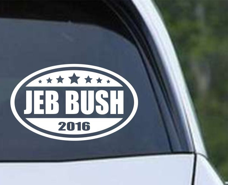 Jeb Bush 2016 Euro Oval Die Cut Vinyl Decal Sticker - Decals City