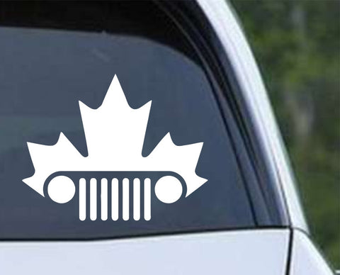 Jeep Canadian Maple Leaf Die Cut Vinyl Decal Sticker - Decals City