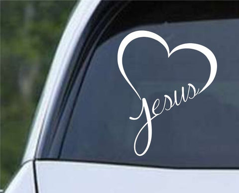 Jesus Heart Die Cut Vinyl Decal Sticker