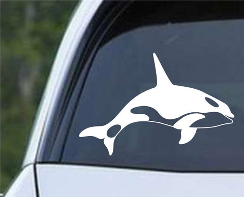 Killer Whale (b) Die Cut Vinyl Decal Sticker - Decals City