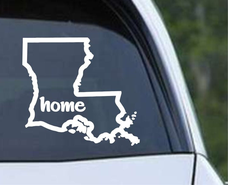 Louisiana State Home Outline LA Cajun USA Die Cut Vinyl Decal Sticker - Decals City