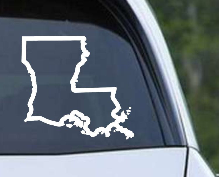 Louisiana State Outline LA Cajun USA Die Cut Vinyl Decal Sticker - Decals City