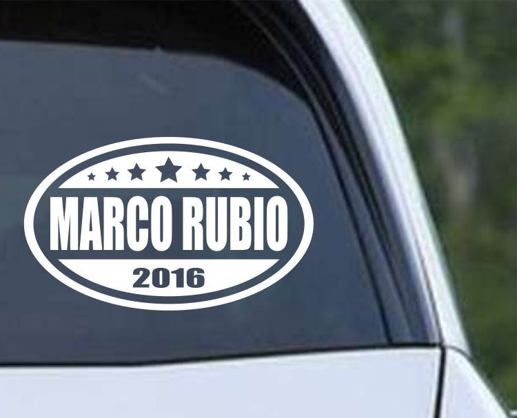 Marco Rubio 2016 Euro Oval Die Cut Vinyl Decal Sticker - Decals City