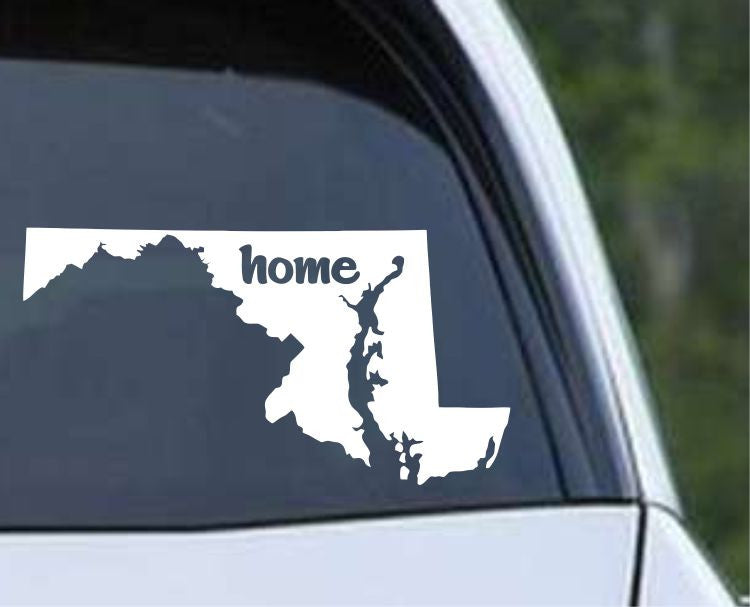 Maryland Home State MD - USA America Die Cut Vinyl Decal Sticker - Decals City