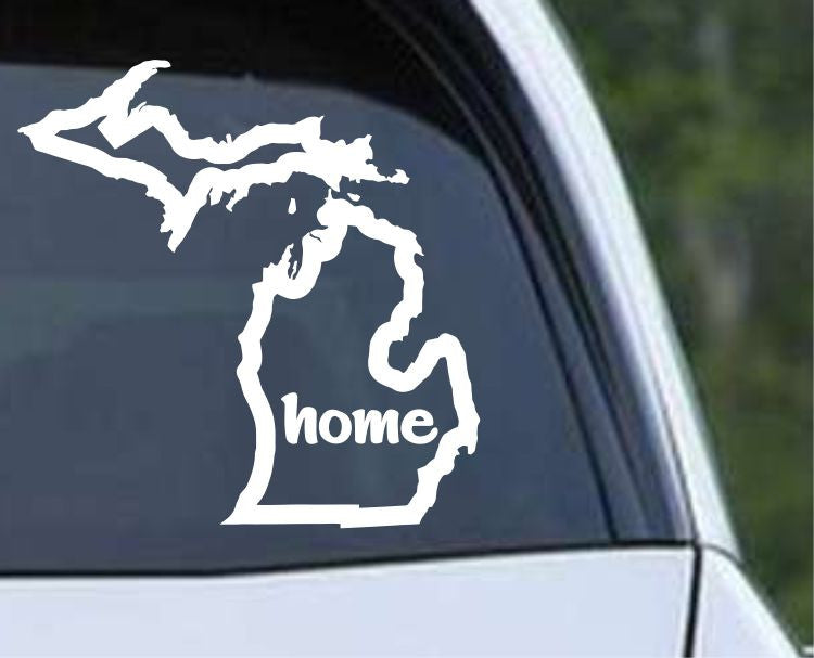 Michigan Home State Outline MI - USA America Die Cut Vinyl Decal Sticker - Decals City