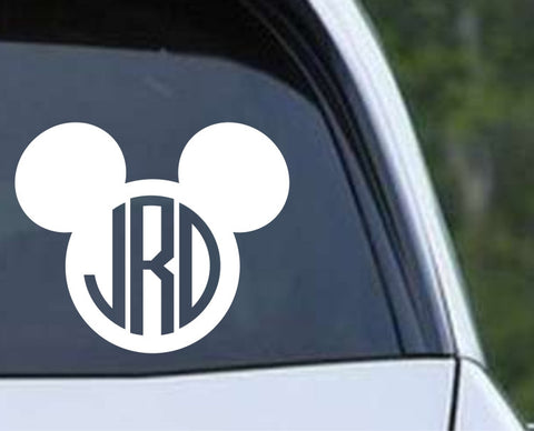 Mickey Mouse Circle Monogram Die Cut Vinyl Decal Sticker - Decals City