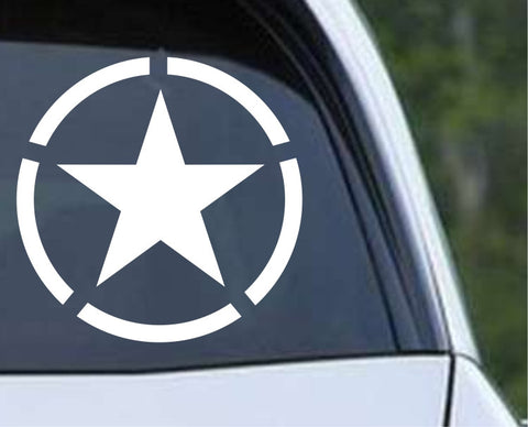 Military Star (02) Die Cut Vinyl Decal Sticker - Decals City