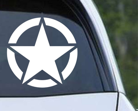 Military Star (01) Die Cut Vinyl Decal Sticker - Decals City