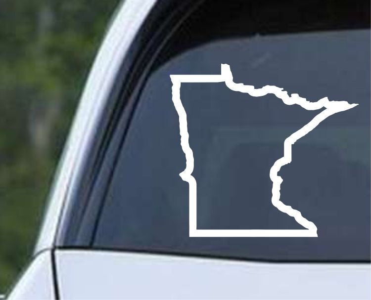 Minnesota State Outline MN - USA America Die Cut Vinyl Decal Sticker - Decals City