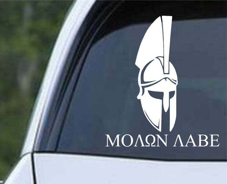 Molon Labe Come and Take It Spartan Helmet (01) Die Cut Vinyl Decal Sticker - Decals City