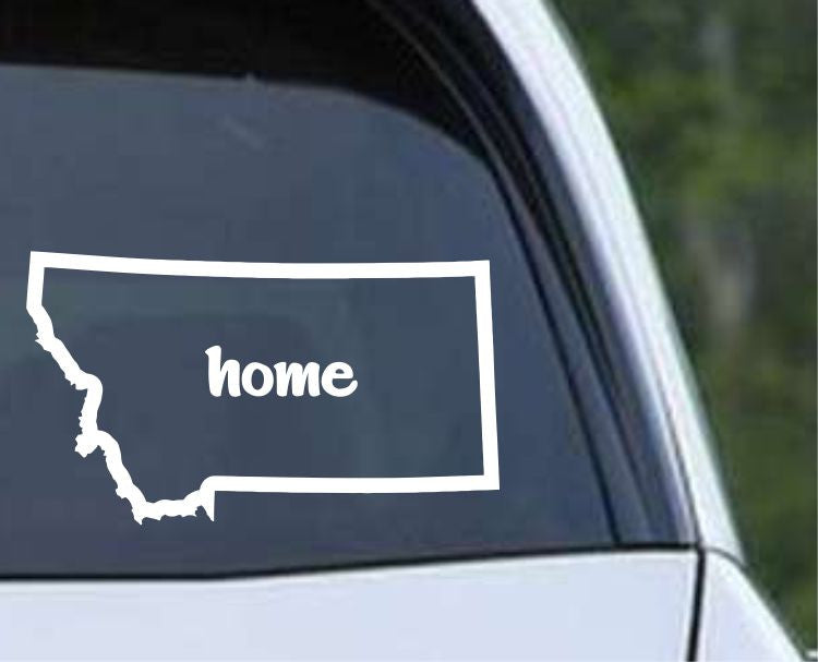 Montana Home State Outline MT - USA America Die Cut Vinyl Decal Sticker - Decals City