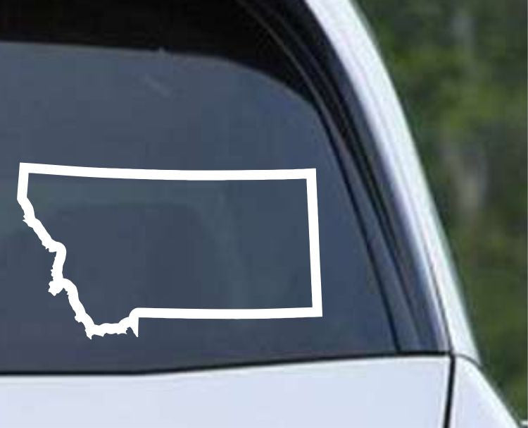Montana State Outline MT - USA America Die Cut Vinyl Decal Sticker - Decals City