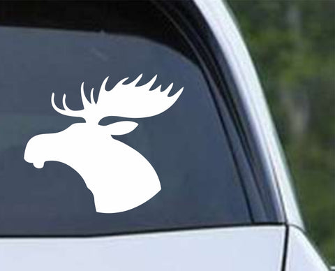 Moose Head Silhouette Die Cut Vinyl Decal Sticker
