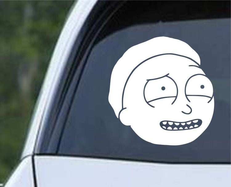 Rick and Morty - Morty's Head Die Cut Vinyl Decal Sticker - Decals City