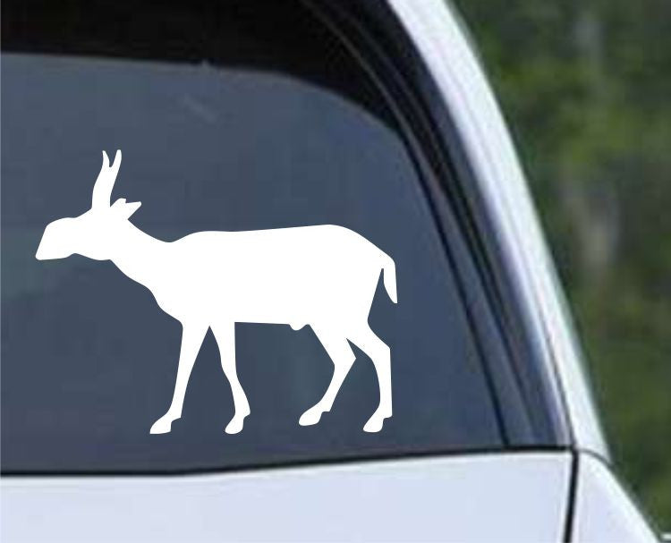 Musk Ox Silhouette Hunting HNT1-59 Die Cut Vinyl Decal Sticker - Decals City