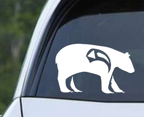 Native American Bear Die Cut Vinyl Decal Sticker