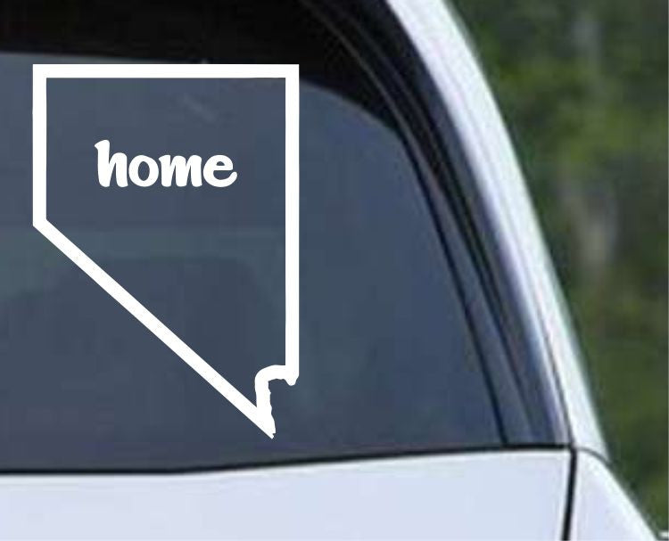 Nevada Home State Outline NV - USA America Die Cut Vinyl Decal Sticker - Decals City