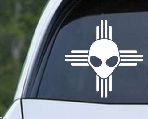 New Mexico Alien Roswell Flag Die Cut Vinyl Decal Sticker - Decals City