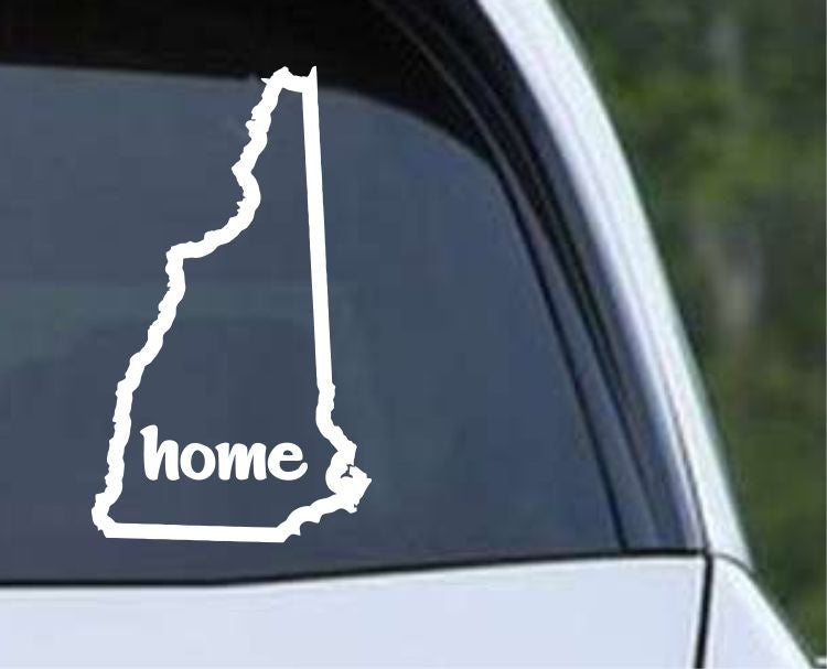 New Hampshire Home State Outline NH - USA America Die Cut Vinyl Decal Sticker - Decals City