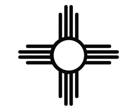 New Mexico Zia Sun Symbol Native American Die Cut Vinyl Decal