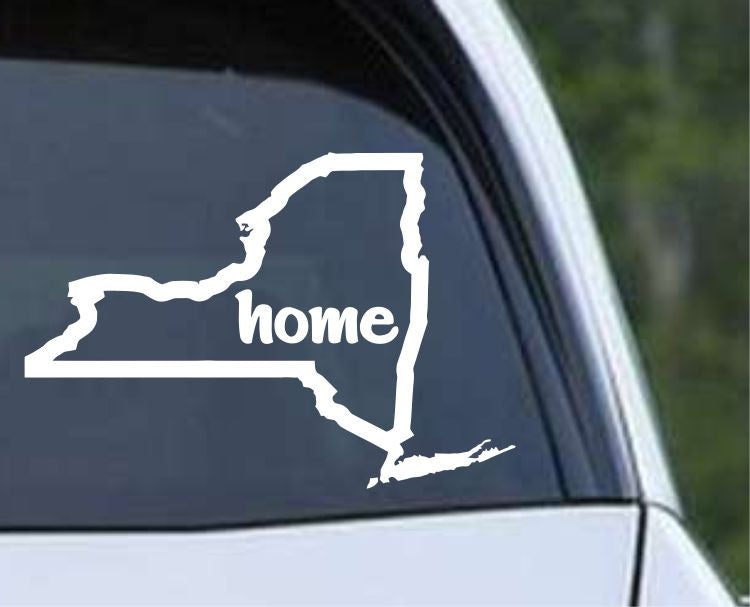 New York Home State Outline NY - USA America Die Cut Vinyl Decal Sticker - Decals City