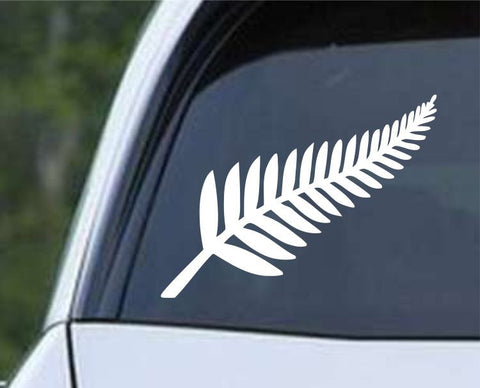 New Zealand Silver Fern Kiwi Nation Symbol Die Cut Vinyl Decal Sticker - Decals City