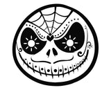 The Nightmare Before Christmas Jack Skellington Sugar Skull Die Cut Vinyl Decal Sticker - Decals City