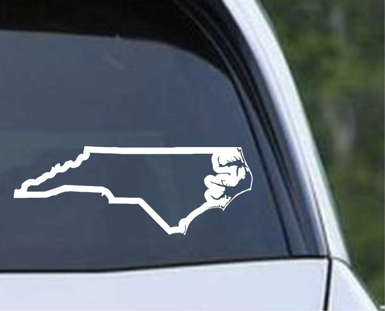 North Carolina State Outline NC - USA America Die Cut Vinyl Decal Sticker - Decals City
