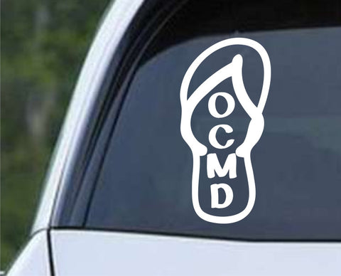 OCMD Flip Flops Sandal Ocean City Maryland Beach Die Cut Vinyl Decal Sticker