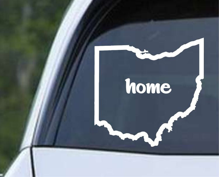 Ohio Home State Outline OH - USA America Die Cut Vinyl Decal Sticker - Decals City