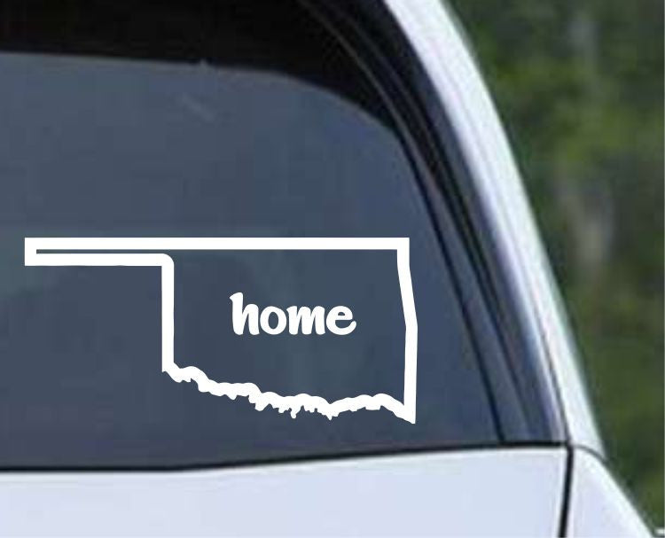Oklahoma Home State Outline OK - USA America Die Cut Vinyl Decal Sticker - Decals City