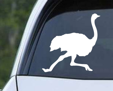 Ostrich Running Die Cut Vinyl Decal Sticker