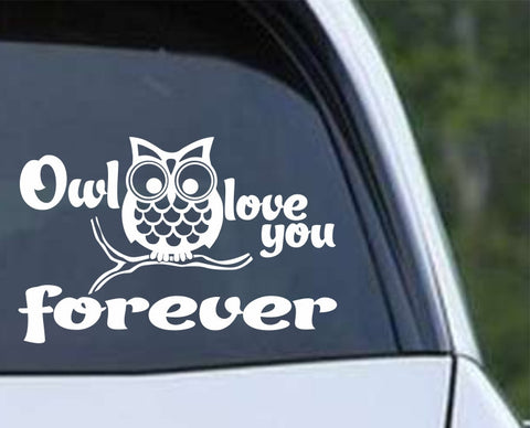 Owl (11) Love You Forever Die Cut Vinyl Decal Sticker - Decals City
