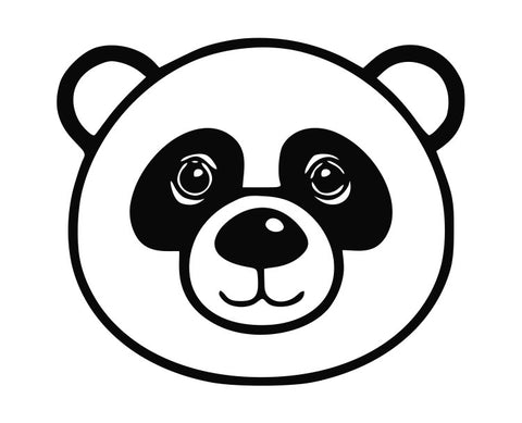 Panda Bear Cartoon Head (b) Die Cut Vinyl Decal Sticker